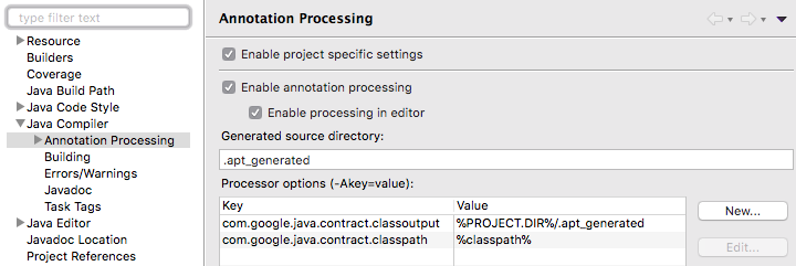 Project > Properties > Java Compiler > Annotation Processing